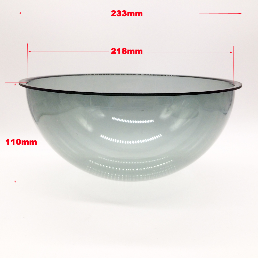 233x110mm Clear Color Compression-proof Vandalproof PTZ Camera Acrylic Dome Housing Cover High Speed Dome Camera Anti-dust Case color image compression