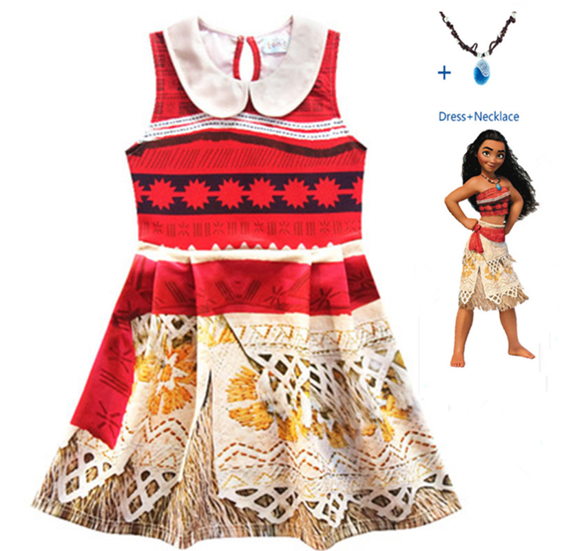 New children 39 s princess Moana role playing costume Vaiana dress Halloween costume necklace children girl gift in Girls Costumes from Novelty amp Special Use