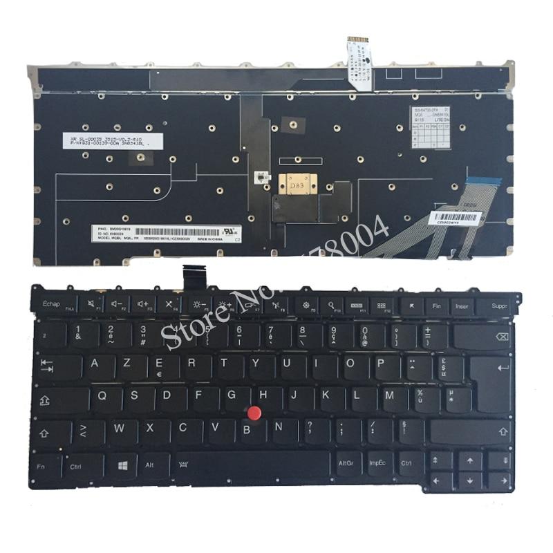 NEW French keyboard for Lenovo Thinkpad Carbon X1 Gen 3 3rd 2015 Keyboard US MQ6-84 FR Laptop Keyboard new azerty french keyboard for lenovo ideapad yoga 13 yoga13 laptop french keyboard 25205814 v 127920fk1 fr
