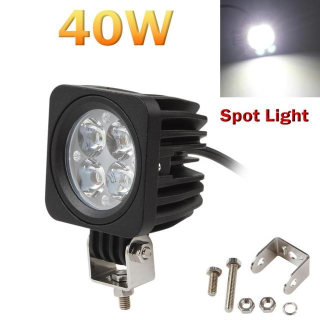 40 Вт 3000LM 4-LED Каждая Модульная Рабочая Лампа Пятно Света Водонепроницаемый для Offroad ATV Грузовик ВНЕДОРОЖНИК