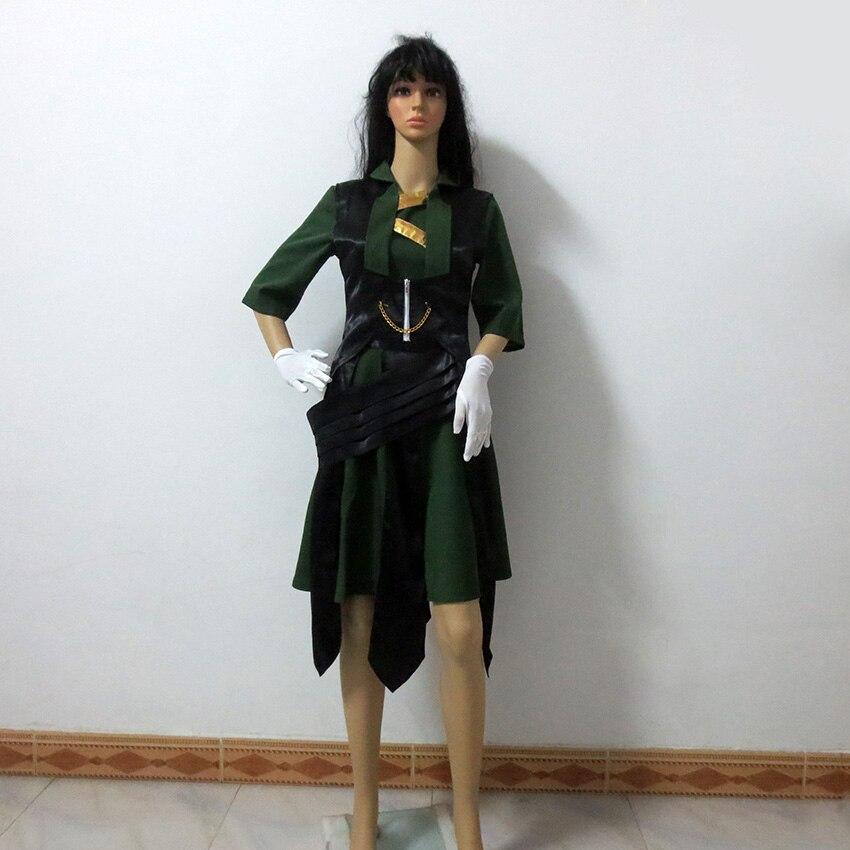 American Flim Thor The Dark World Loki Female Sex Reversion Halloween Uniform Outfit Cosplay Costume Customize Any Size