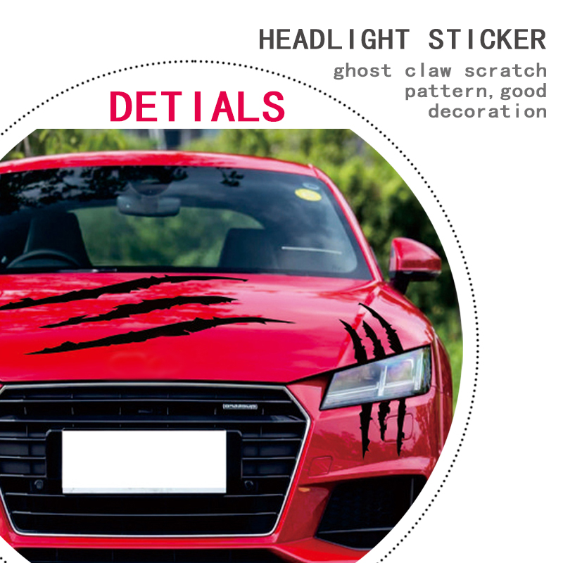 Image 4 - Universal Auto Headlight Claw Stripe car Sticker for BMW E46 E60 Ford focus 2 Kuga Mazda 3 cx 5 VW Polo Golf 4 5 6 Jetta Passat-in Car Tax Disc Holders from Automobiles & Motorcycles