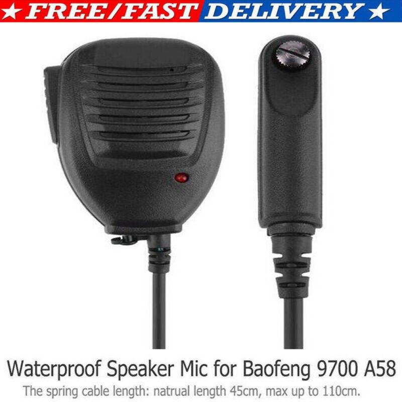 Handheld Speaker Mic Walkie Talkie For Baofeng BF-A58 BF-9700 Walkie Talkie