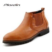 Plardin/2017 Весна/Осень Человек модные удобные украшения из металла Обувь заклепки Slip-на резинке в сдержанном стиле Для мужчин рыцарские сапоги