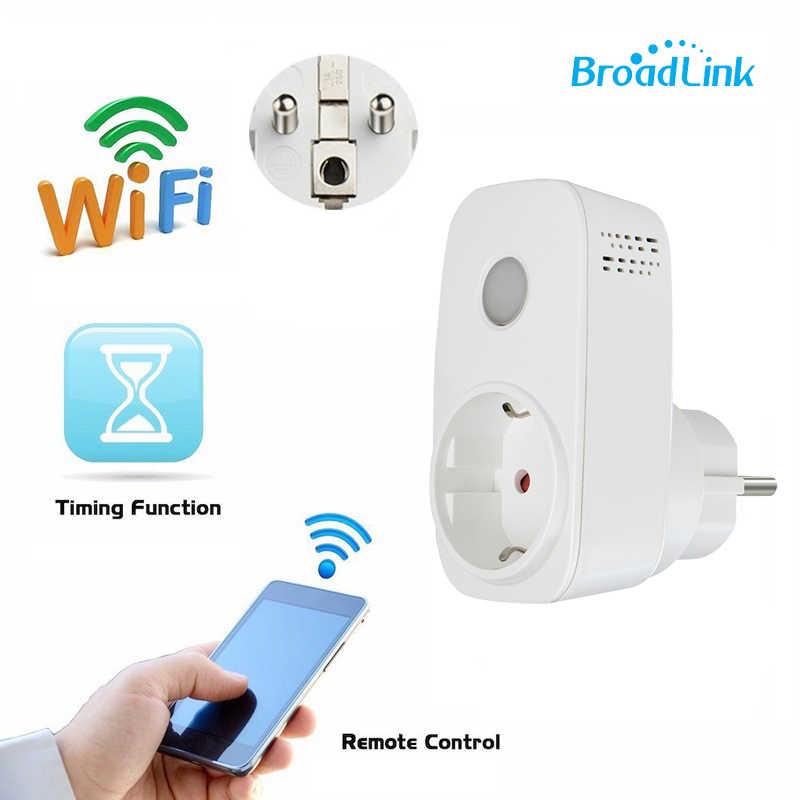 Broadlink Sp3 gniazdo zasilania z Wi-Fi podłącz bezprzewodowy pilot zdalnego sterowania Outlet regulator kompatybilny Alexa Google domu Mini do smartfona