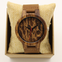 Japan Quartz Fashion Movement Men Wood Watch Luxury Genuine Leather Band Bamboo Wooden Wristwatches Vintage Antibrittle