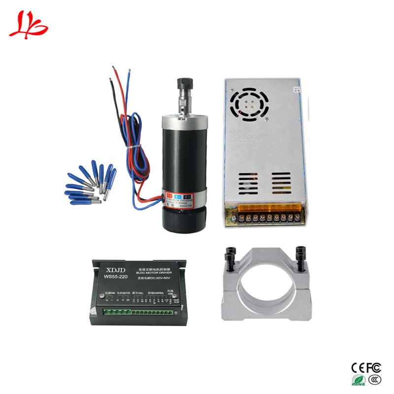цены на 500W ER11 Brushless DC Spindle 55MM Clamp Stepper Motor Driver 3.175mm cnc tools в интернет-магазинах