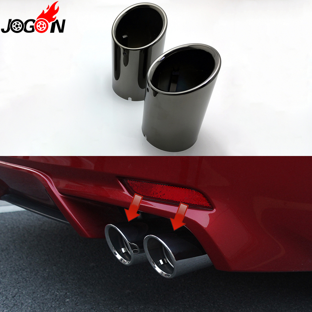 Sports Road 35mm-48mm Chrome Plated Steel Curved Ended Exhaust Tail Pipe Car Van
