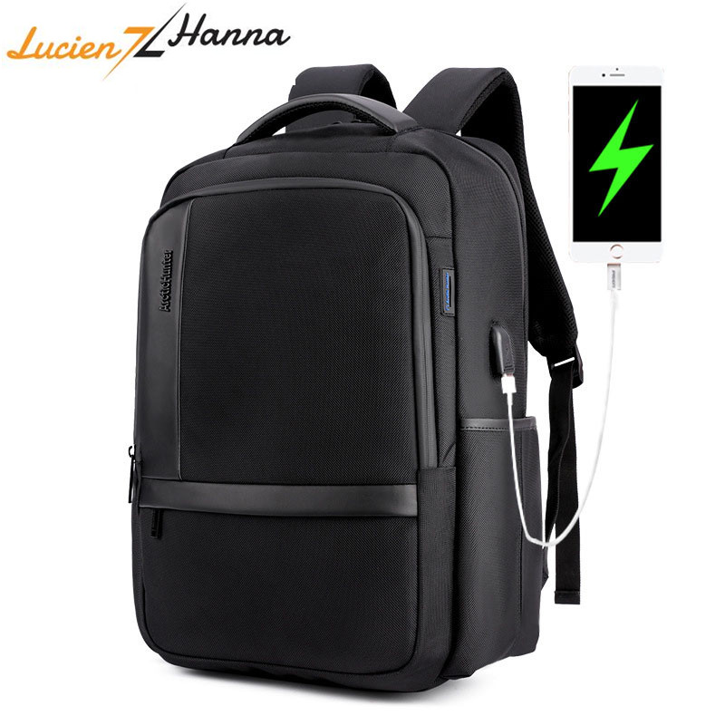 Waterproof Laptop Backpack Men 15 6 inch Computer Bag Pack External USB Charging Port Anti Theft