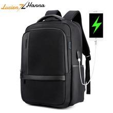 Водонепроницаемый ноутбук рюкзак Для мужчин 15,6 дюймов Компьютерная сумка упаковать внешние зарядка через usb Порты и разъёмы Anti Theft путешествия рюкзак Mochila Hombre