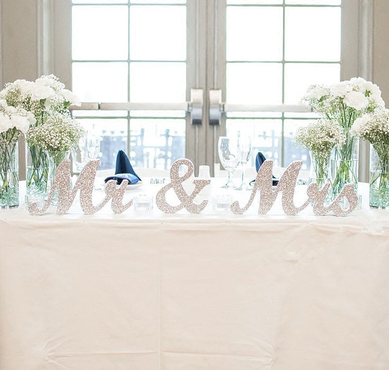 Silver Mr and Mrs Sign Wedding Sweetheart Table Decorations Mr and Mrs Letters Decorative Letters for Wedding Photo PropsSilver Mr and Mrs Sign Wedding Sweetheart Table Decorations Mr and Mrs Letters Decorative Letters for Wedding Photo Props