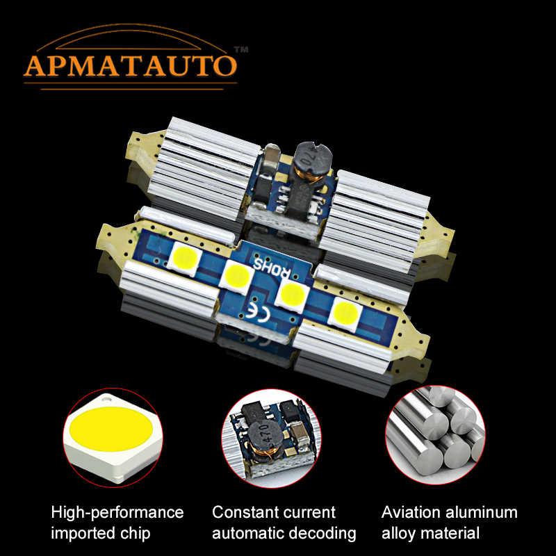2 x לבן 6000k C5W Licese מספר צלחת אור הנורה Canbus 36mm LED עבור פולקסווגן פולקסווגן גולף 4 5 פאסאט 3B 3BG 3C CC פולו 9N T5 Eos