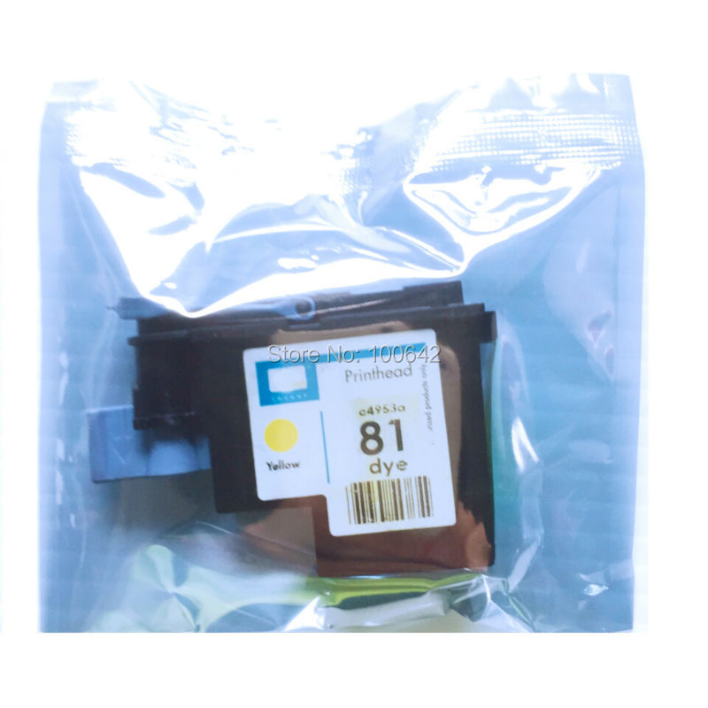 1 pcs Yellow C4953A Remanufactured Printhead for HP81 Designjet 5000 5000ps 5500 5500ps printer head for HP 81