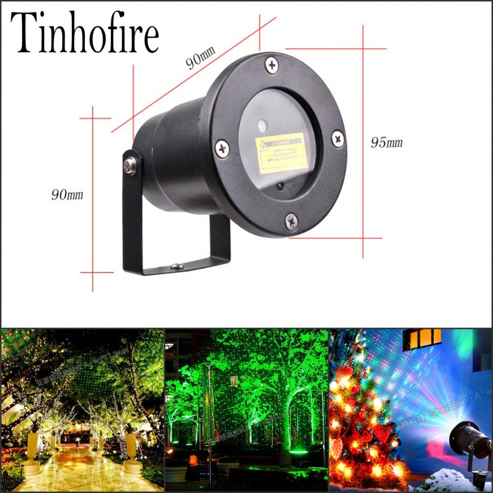 Tinhofire CPD-01(TX) Antenna Remote Control Sky stars R&G LED Stage Lamp Party Light Waterproof Garden Landscape Christmas Light