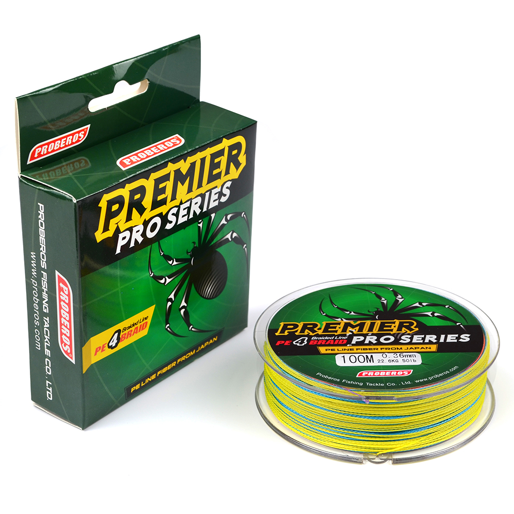 Image 2 - Ocean Rock Fishing 4 Stands 4 Weaves 6LB 100LB Japan Braided Wires Spectra 100M Pe Braided Fishing Line Green Super Pe Line B4-in Fishing Lines from Sports & Entertainment