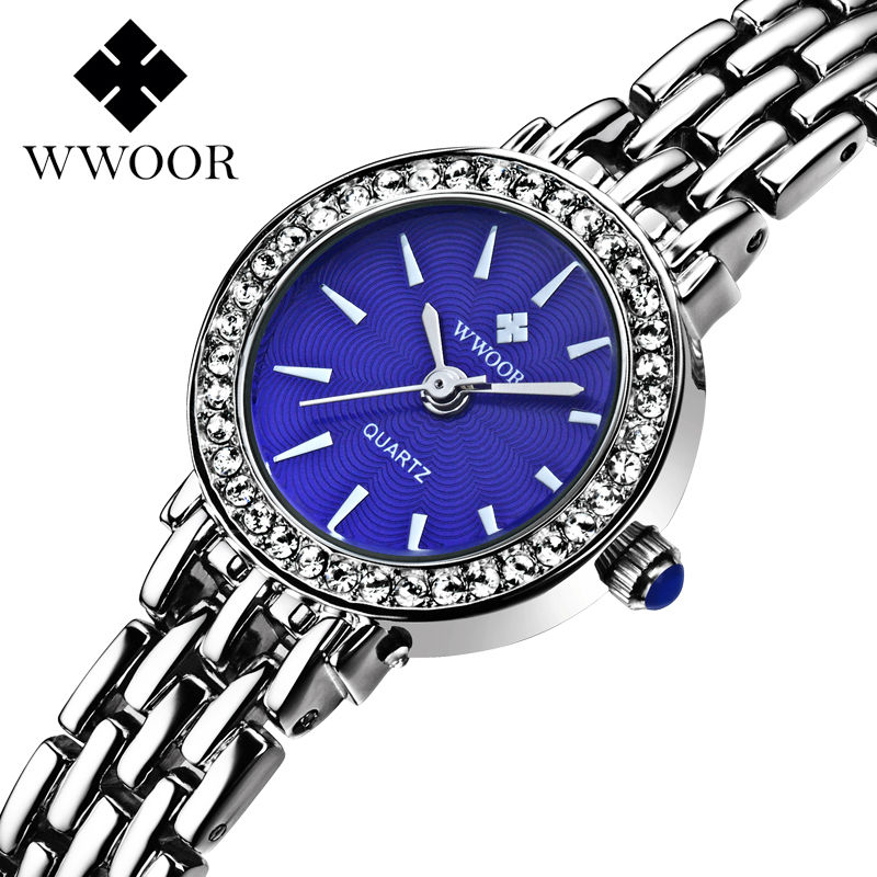 все цены на  New Brand Women Watch Bracelet Quartz Dress Watch Ladies Stainless Steel Rhinestone WristWatch Diamonds Relogio Feminino watches  онлайн