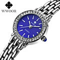 Nueva Marca Mujeres Reloj Pulsera de Cuarzo Reloj de Vestir Señoras Rhinestone Reloj de Pulsera de Acero Inoxidable Diamantes Relogio Feminino relojes