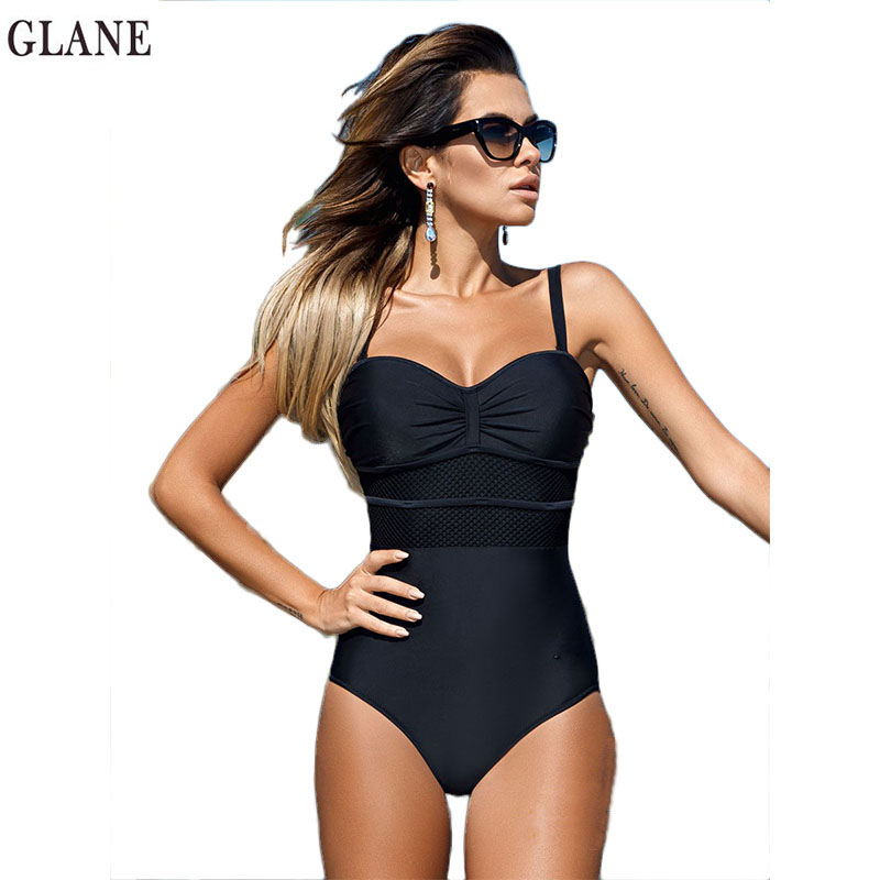 One Piece  Sexy Women Solid Swimsuit Push Up Padded Bikini Monokini Swimwear 2017 Summer Women Female Bathing suit beachwear