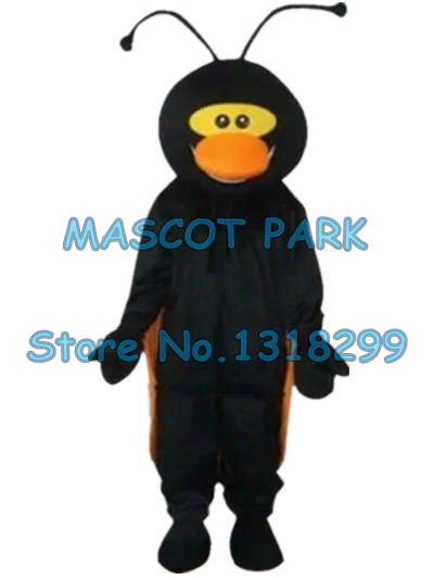 Черный костюм талисмана божьей коровки на заказ ростовой костюм мультяшный персонаж Карнавальный костюм для косплея 3239