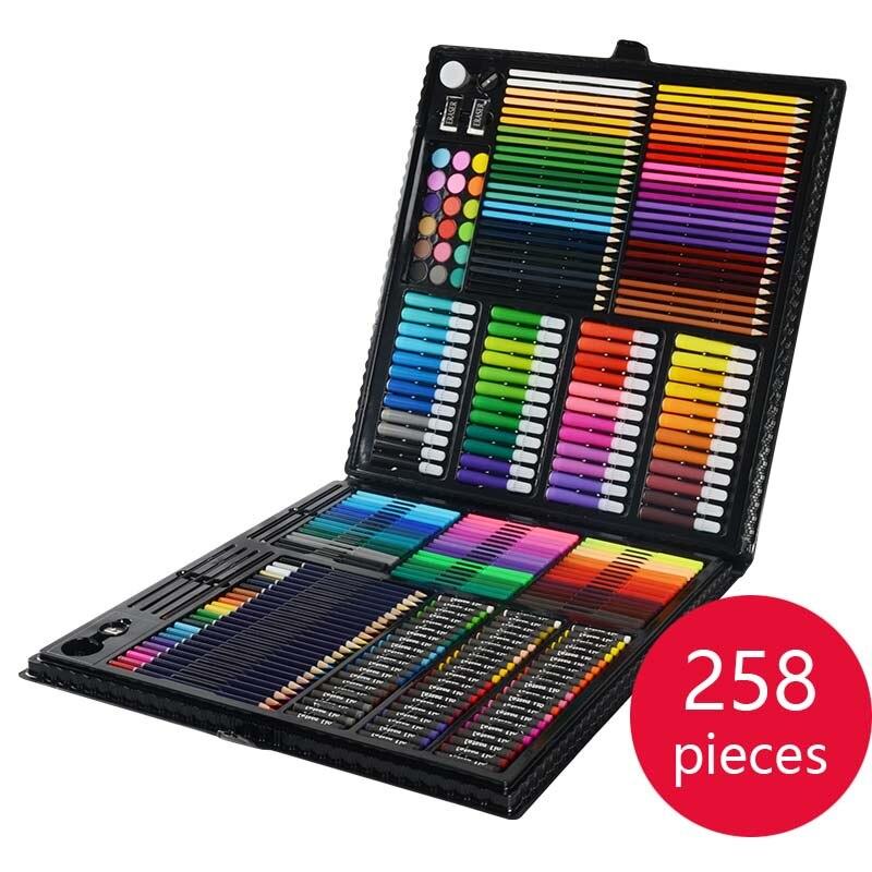 Новые детские живопись набор чертежный инструмент кисть начальной воды цвет ручки art обучения канцелярские