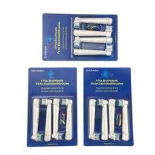 12 шт.(4 шт./компл. 3 компл./лот) для Braun Oral B Электрическая зубная Замена щеток Vitality Precision электрической зубной щетки