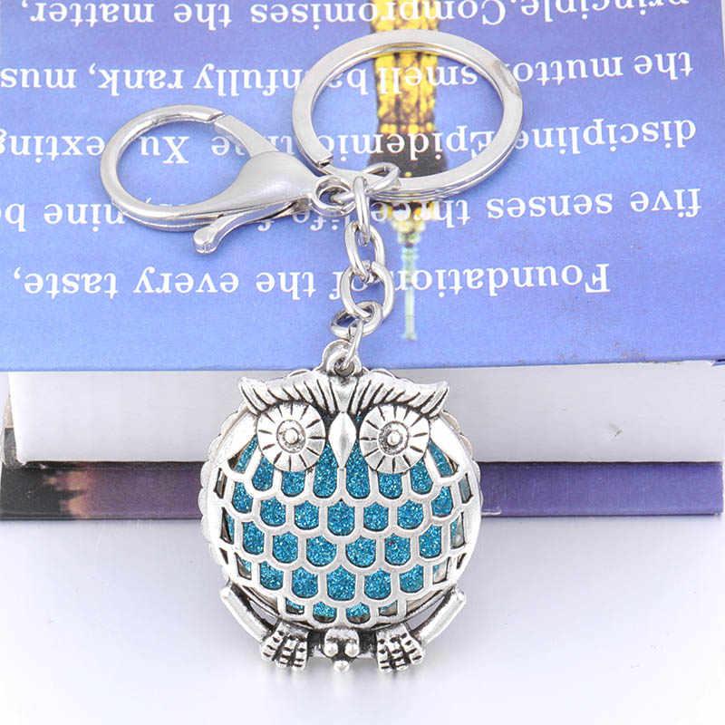 Novo estilo retro elefante caixa de aromaterapia pode abrir pingente chaveiro moda feminina jóias atacado + 2 brilhante esteira hj735