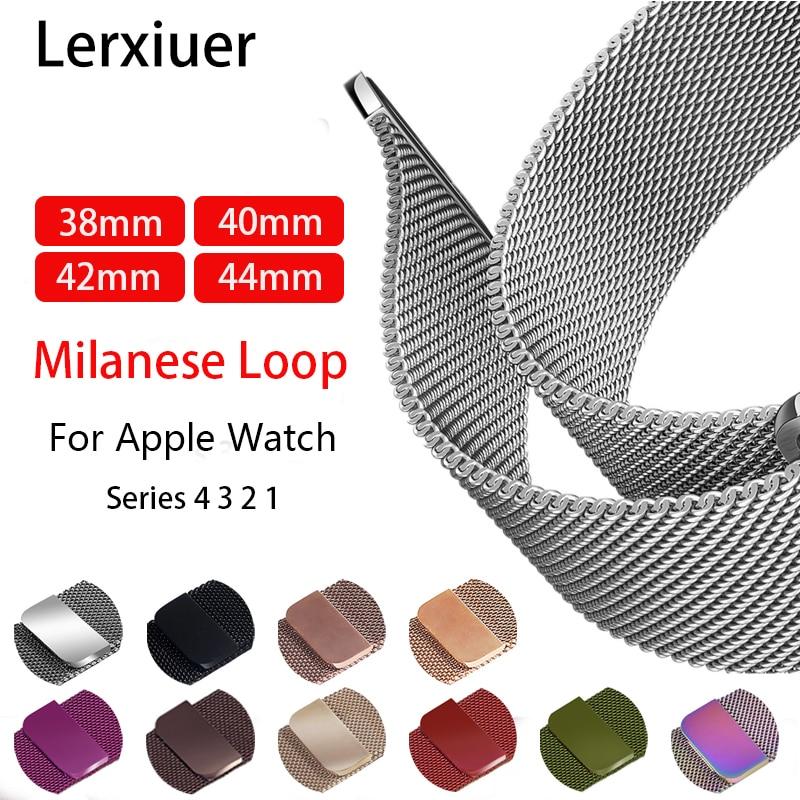 Milanese Loop stainless steel Bracelet Strap For Apple Watch