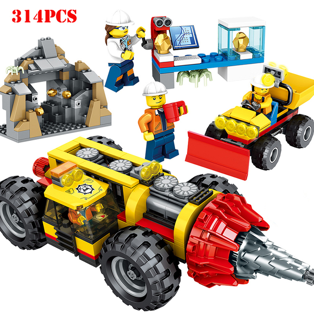 Spielraum 314 Stücke Engineering Bergbau Bohren Bagger Fahrzeug