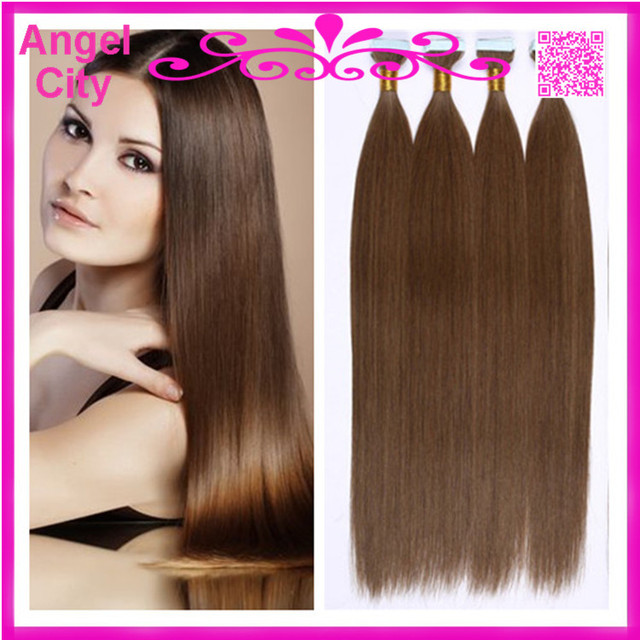 New 18 28inch Virgin Straight Brazilian Fusion Hair Pu Skin Weft
