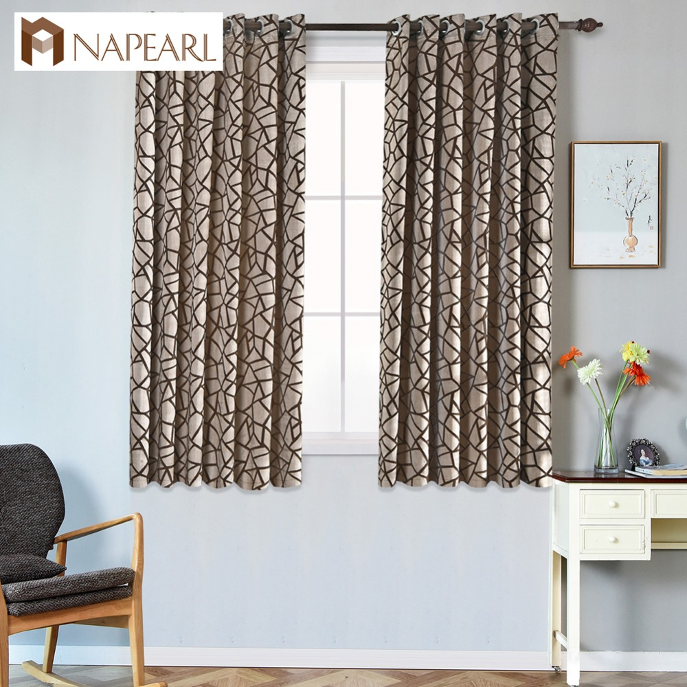 Us 10 19 52 Off Short Modern Curtain Living Room Window Kitchen Grommet Top Treatments Semi Blackout Ready Made Curtains For Bedroom In