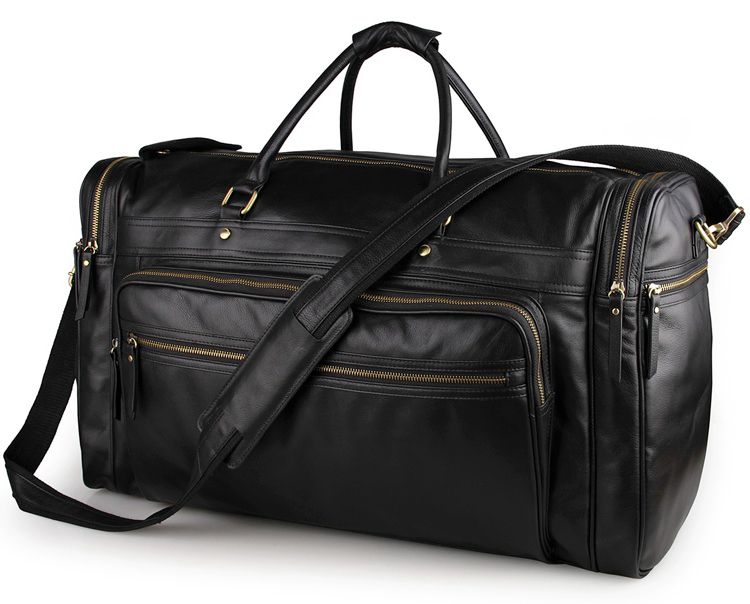 23 inch High Quality Cowhide Travel Duffle Bag Large Capacity Real Leather Men Travel Tote Bag Business Trip Handbag