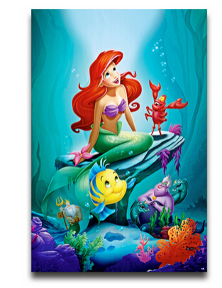 20x30inch Wall Sticker Poster Home Decoration The Little Mermaid Cartoon  Art Mural Removable Poster Affiche Cartel Part 63
