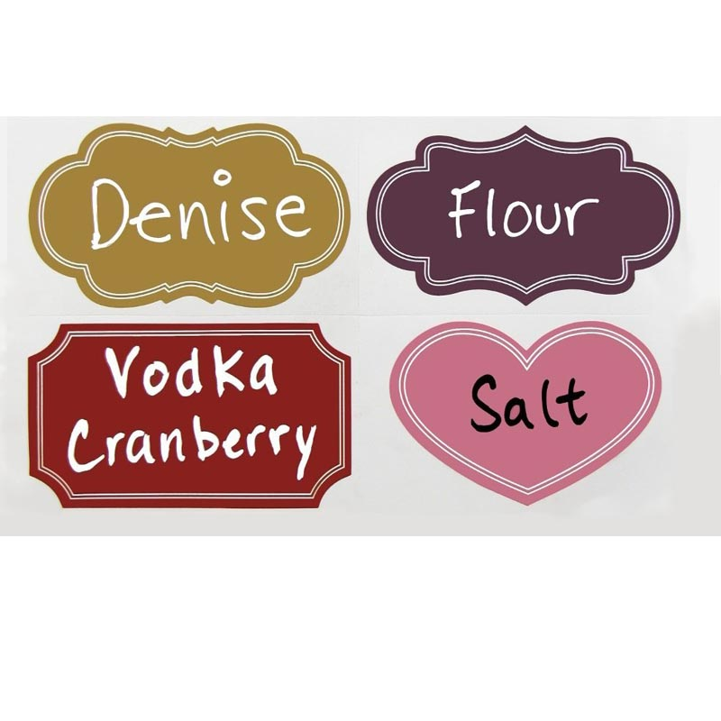 Colored Labels Reusable Chalkboard Stickers Excellent Quality for Labeling Mason Jars, Pantry, Craft Rooms