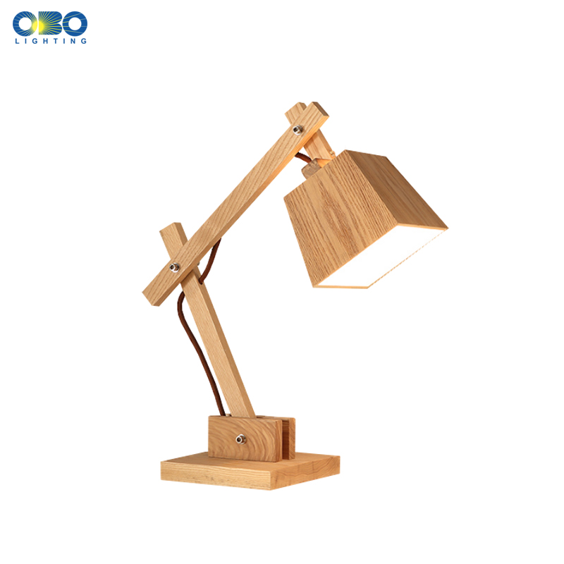 Modern Wood Adjustable Table Lamp Study Desk Light Bedroom Bedside Foyer Rustic Decoration Lighting E27 110-240V Free Shipping decorative table lamp vintage wood plastic rustic style brief modern lampshade living room bedroom 110 220v desk light 1936