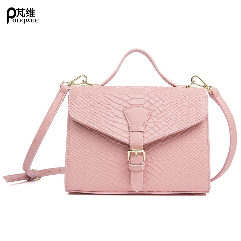 PONGWEE Women Messenger Genuine Leather Bag Plaid ladies Crossbody Bag Chain Trendy Cow skin Small Shopping Daily Shoulder Bag fashion brand genuine leather women messenger bag patchwork plaid chain shoulder bag small ladies crossbody bag