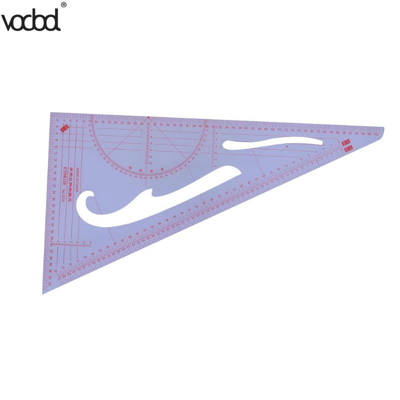 1:3/1:4/1:5 Clothing Drawing Plate Making Ruler Tailor Sewing Tools Patchwork Craft Triangular Scale Ruler For Measure Clothes