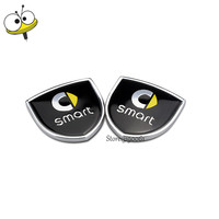 Metal Car Sticker Emblem Badge Decal Car Styling For Benz Smart Fortwo 451 453 Forfour Forspeed
