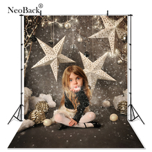 2016 Fast shipping 3x5ft 5x7ft Star view Santa Christmas vinyl background vintage holiday backdrop customized size offered P1038