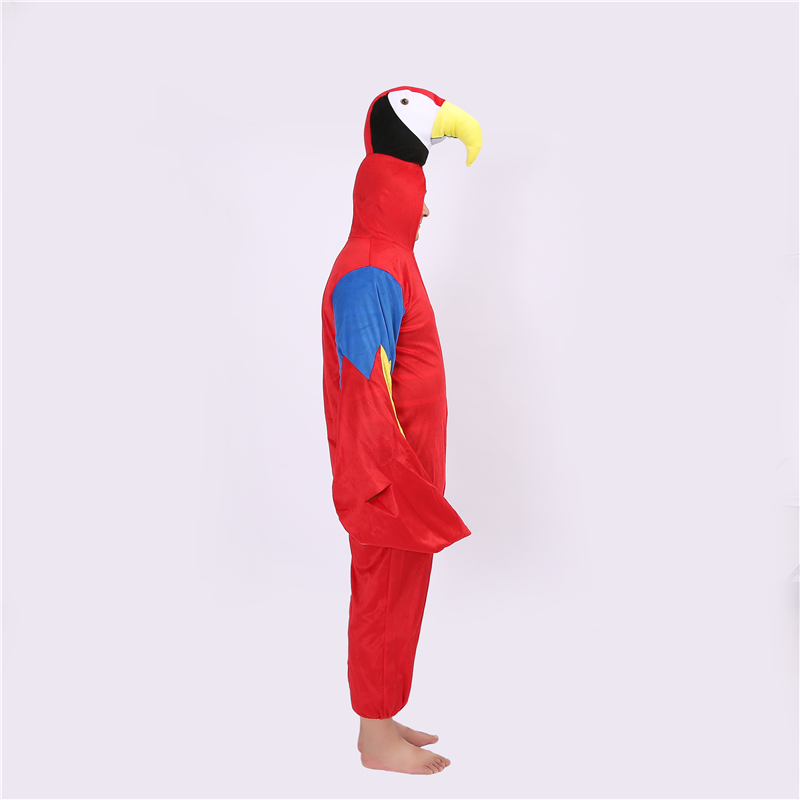 Colorful Parrot Cosplay Costume Cartoon Animal Cosplay Costume Pajamas Kids Onesies Clothes Children Halloween Party Costumes