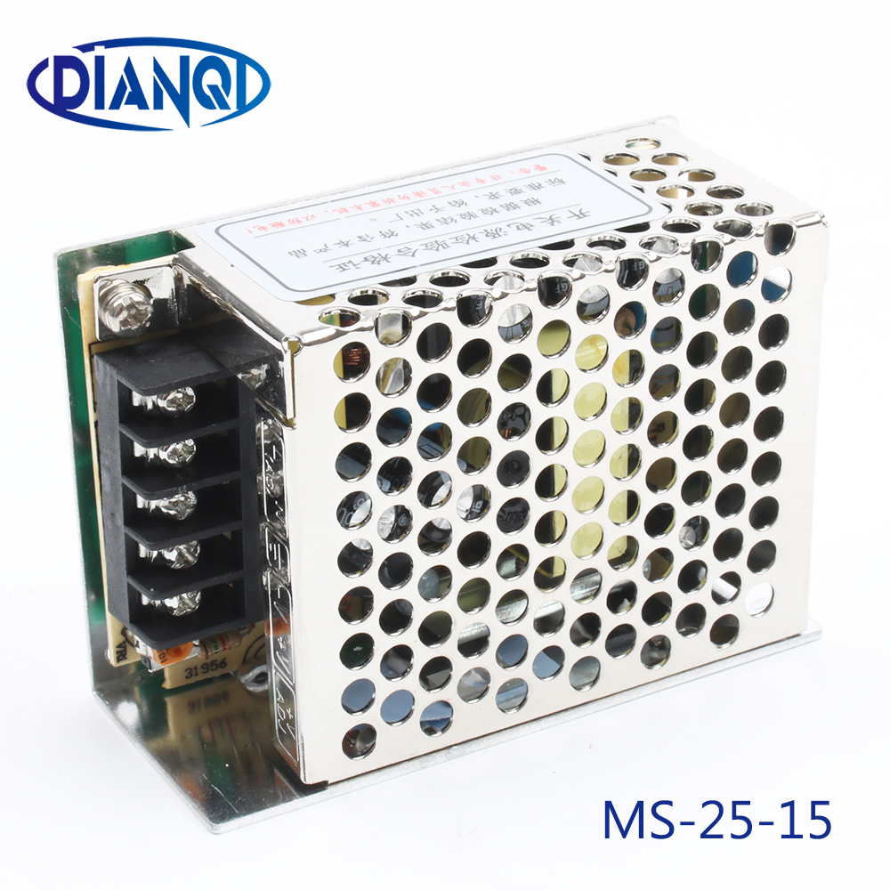 DIANQI power supply unit 25W 15V 1.7A mini size ac dc converter mini size ms-25-15 15v variable dc voltage regulator image