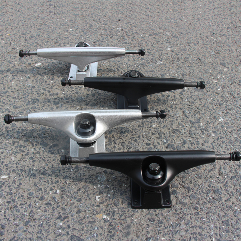 1pair New 6.25inch Truck 230mm Longboard Bridge Black Silver Skateboard Truck Bridge Aluminium Lonboard Parts