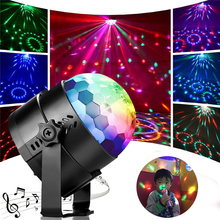 ZjRight AC110-240V RGB 7color LED party effect light Music control KTV Stage Light birthday Christmas holiday