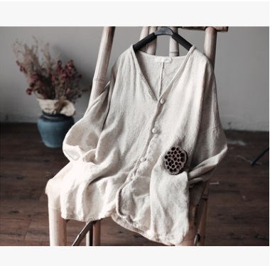 Spring 2017 product launches, 100% original design Cotton and linen loose womens leisure Tshirt big yards