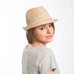 Muchique summer sun hats for women stylish fedora raffia straw trilby with metallic beads trim .jpg 250x250