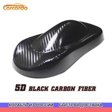 Carcardo 5D karbon araba Sticker 5D karbon Fiber vinil Wrap parlak 5D karbon çıkartmaları araba sarma filmi otomatik etiket kabarcık ücretsiz