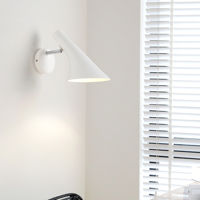 Nordic studio Picture Light horn shaped wall sconce Modern Adjustable Swing Arm Wall fixtures indoor LED Wall lights Mirror Luz