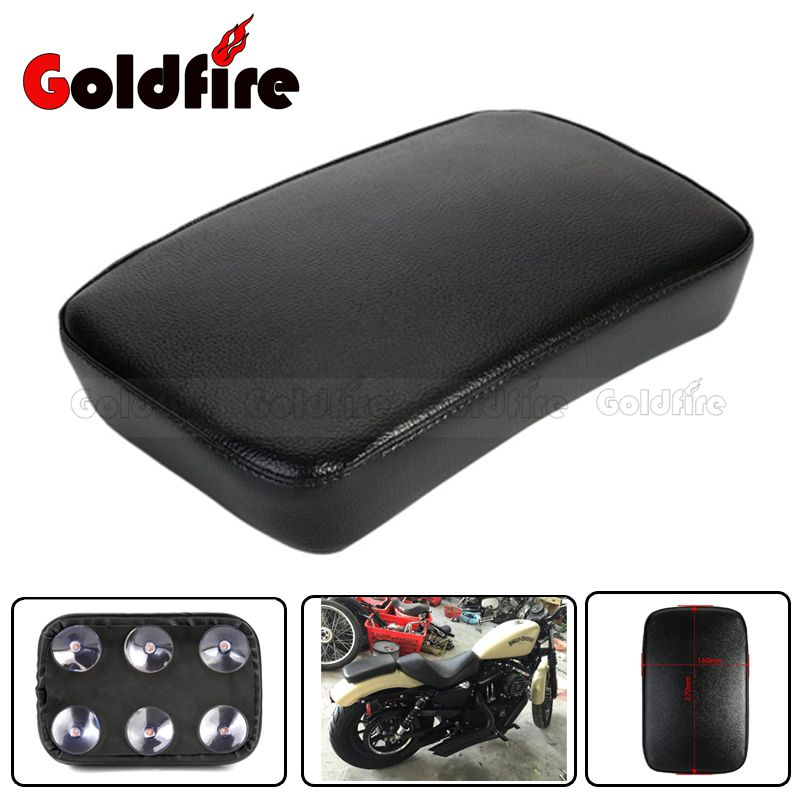 Motorbike Pillion Pad Suction Cup Solo Rear Seat Passenger Saddle for Harley Dyna Sportster Softail Slim FLS Touring XL 883 1200