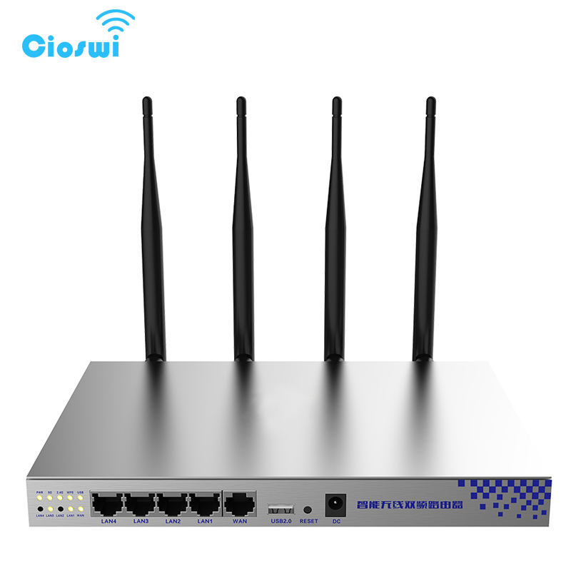 OpenWrt 802.11AC 1200Mbps 2.4G 5G Dual Band Wifi Router MT7620A MT7612 chipsets High Power Wireless Router Long Wifi Range ...