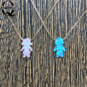 New 2017 Opal Boys & Girls pendant necklace fine jewelry necklace female