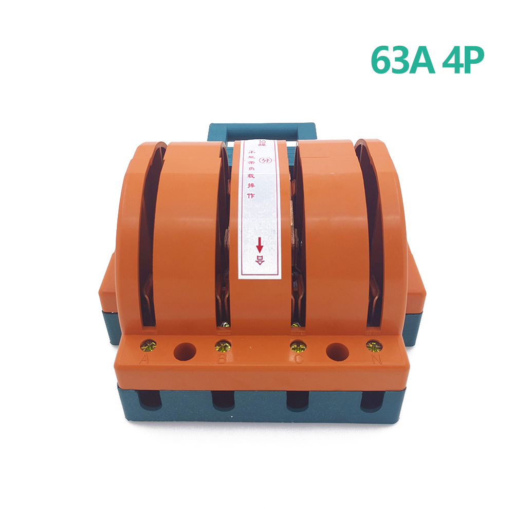 цена на AC380V Heavy Duty 63A Four Poles Double Throw Knife Disconnect Switch Delivered Safety Knife Blade Switches